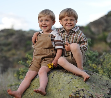Caleb and Kaeden~ We we could keep them this age forever!