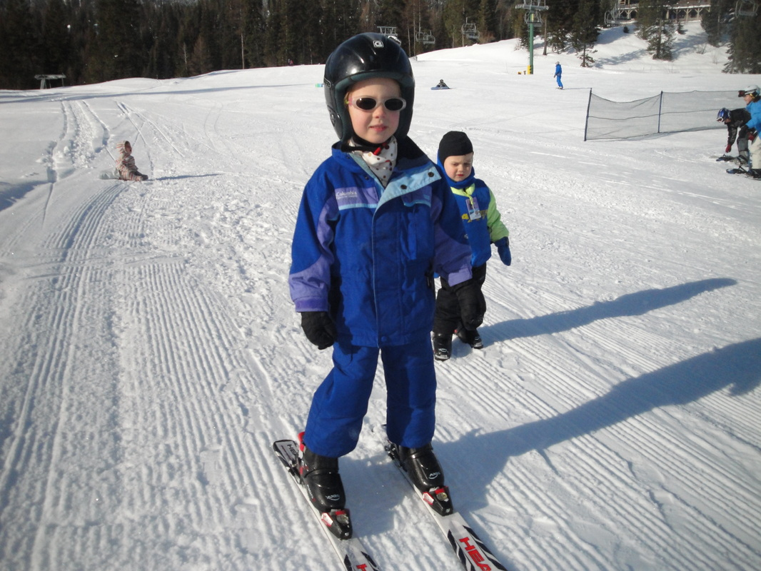 Calli and Caleb are great little skiers  ~  BoulderCrest Ranch