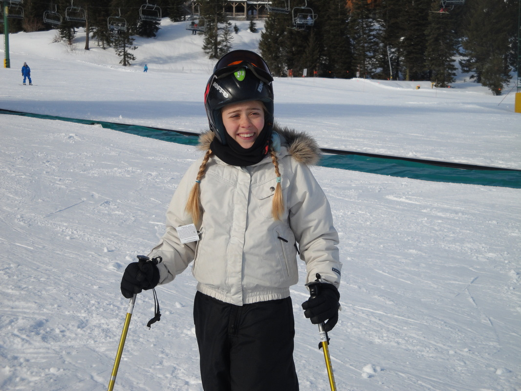 Abrie skiing at Tamarack ~  BoulderCrest Ranch