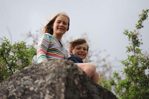 Tori and Alex enjoying a climb at BoulderCrest Ranch