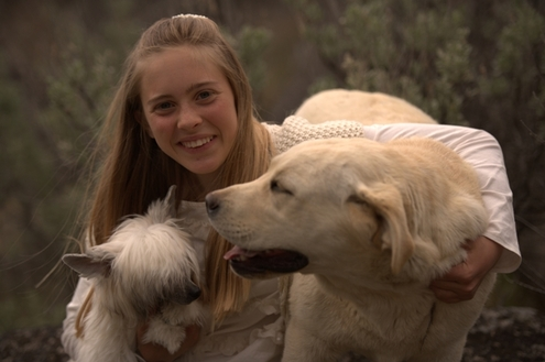 Abrie with her two Legacy girls, Ivy and Holly at BoulderCrest Ranch