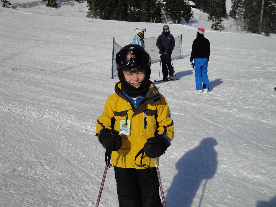 Alex LOVES to ski at Tamarack ~  BoulderCrest Ranch