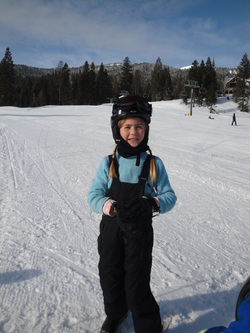 Tori skiing at Tamarack  ~  BoulderCrest Ranch