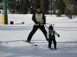 Kaeden learns to ski at Tamarack  ~  BoulderCrest Ranch